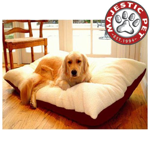 Majestic Pet Extra Large 42x60 Rectangle Pet Bed - Burgundy