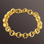 Romanza Medium Rolo Bracelet set in Gold over Bronze at Kmart.com