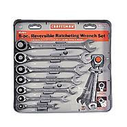 Craftsman 8 pc. Metric Reversible Ratcheting Combination Wrench Set at Craftsman.com