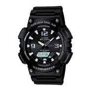 Casio Men's Calendar Day/Date Solar Powered Watch w/Round Black Case, Ani-Digi Dial and Black Resin Band at Sears.com