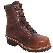 "AdTec Men's 9"" Tumble Leather Broad Steel Toe Logger Brown Wide Widths Available at Kmart.com"