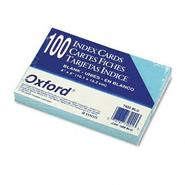 Oxford Unruled Index Cards, 4 x 6, Blue, 100 per Pack at Sears.com
