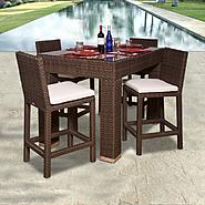 Atlantic Abaco 5-pc Wicker Rectangular Bar Set at Kmart.com