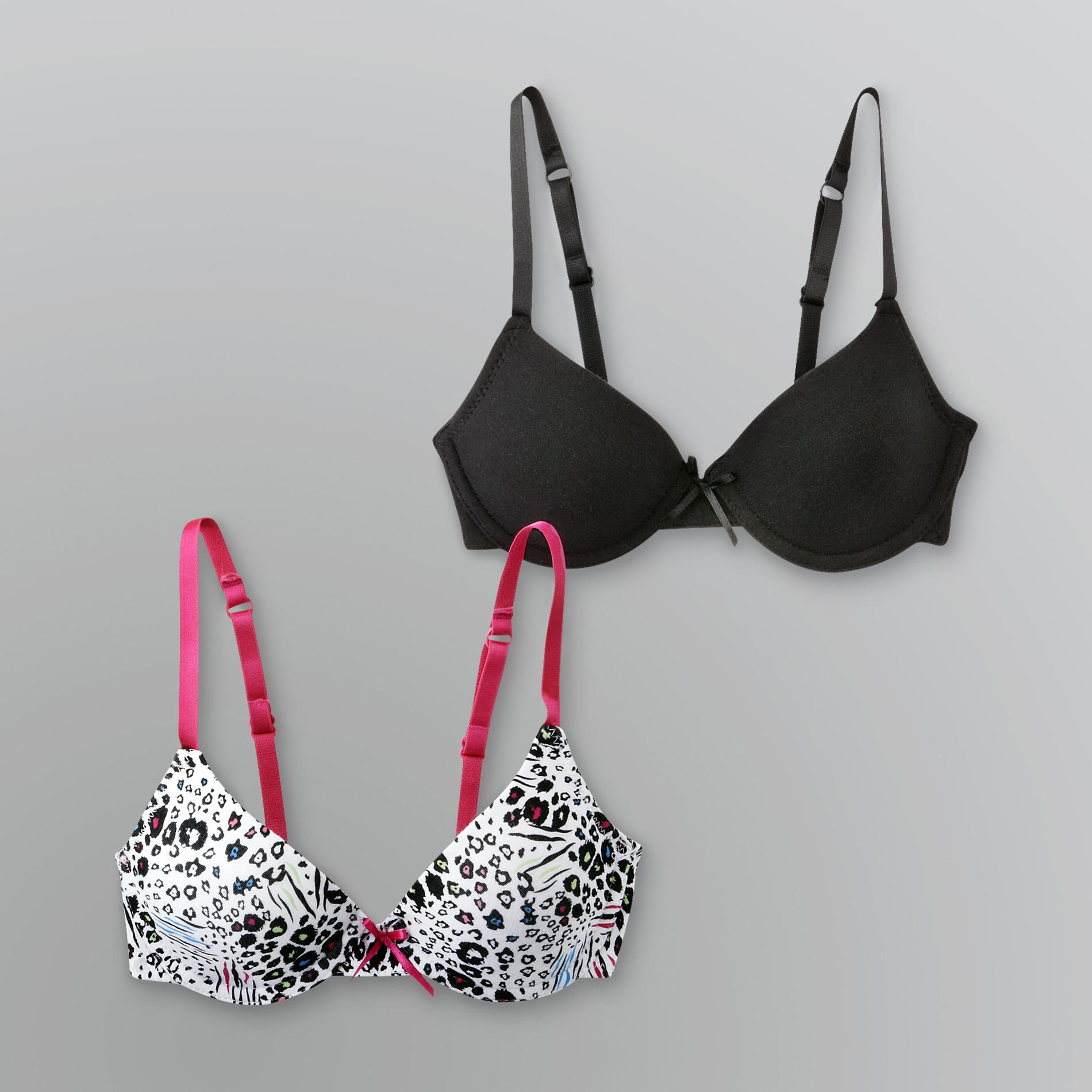 Girl's Molded Underwire Bras - 2 Pc.