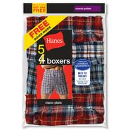 Hanes Men's Boxers 5pk Comfort Flex Waistband Plaid at Kmart.com