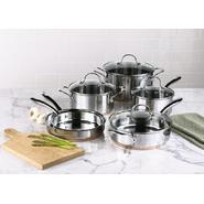 Kenmore 10 pc. Stainless Steel with Copper Band Cookware Set at Sears.com
