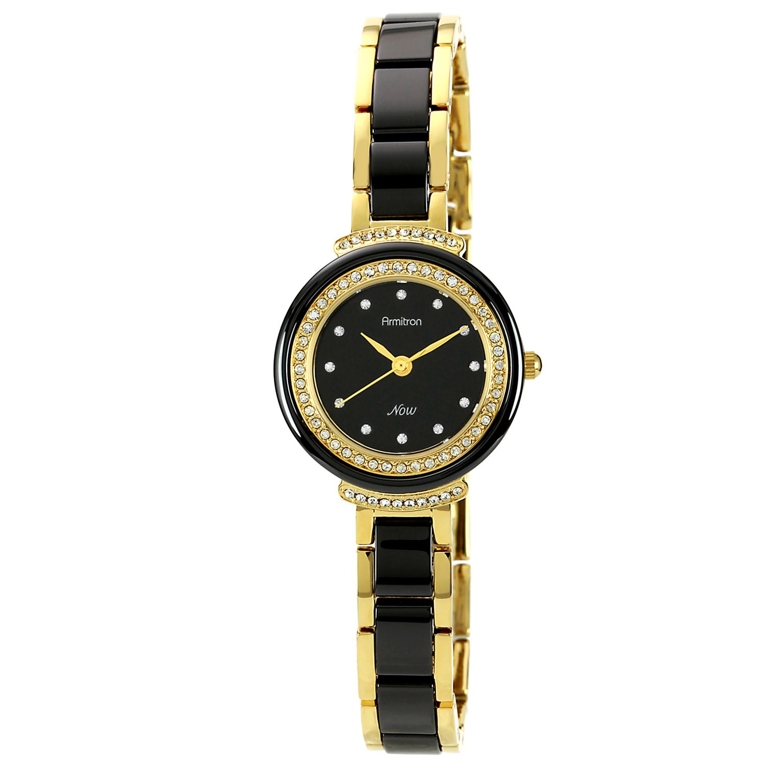 Armitron  Ladies Black and Gold-Tone