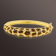 Chocolate Elegance Gold Over Bronze Brown and White Crystal Animal Bangle at Kmart.com