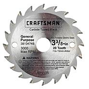 CRAFTSMAN NEXTEC 3 3/8IN CIRCULAR SAW BLADE at Kmart.com
