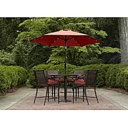Garden Oasis Van Buren High Dining Set & Solar Umbrella Bundle at Kmart.com