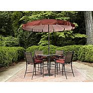 Garden Oasis Van Buren 5pc Cushion/Sling High Dining Set at Kmart.com