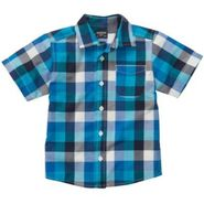 OshKosh Toddler Boy's Short-Sleeve Woven Shirt - Checked at Sears.com