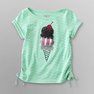 Toughskins Infant & Toddler Girl's Ruched Top - Ice Cream at Sears.com