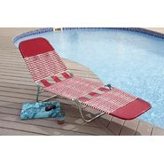 Garden Oasis PVC Chaise Lounge - Red at Sears.com