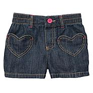 Carter's Toddler Girl's Shorts Jean Heart Pockets at Sears.com