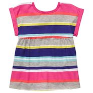 Carter's Toddler Girl's Top Stripes Multi Color Short Sleeve at Sears.com
