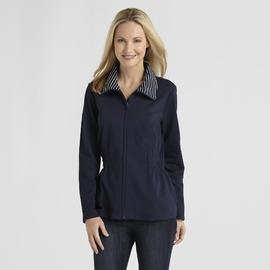 Basic Editions Women's French Terry Zip Jacket at Kmart.com