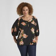 Jaclyn Smith Women's Plus Dolman Top - Floral at Kmart.com