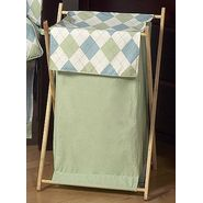 Sweet Jojo Designs Argyle Green Blue Collection Laundry Hamper at Kmart.com
