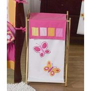 Sweet Jojo Designs Butterfly Pink and Orange Collection Laundry Hamper at Kmart.com