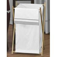 Sweet Jojo Designs Hotel White and Gray Collection Laundry Hamper at Kmart.com