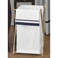 Sweet Jojo Designs Hotel White and Navy Collection Laundry Hamper at Kmart.com