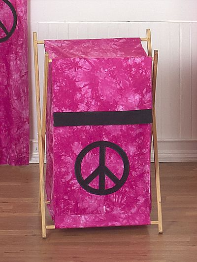 Peace Pink Collection Laundry Hamper