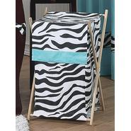 Sweet Jojo Designs Zebra Turquoise Collection Laundry Hamper at Kmart.com