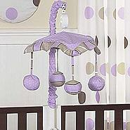 Sweet Jojo Designs Mod Dots Purple Collection Musical Mobile at Sears.com