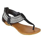 SM New York Women's Sandal Zirconia - Black at Sears.com