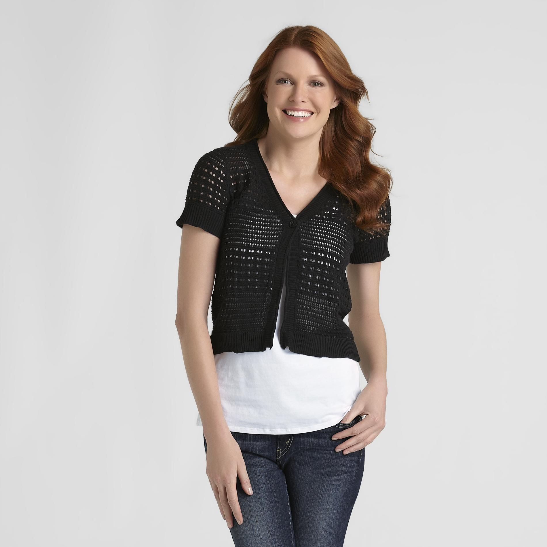 Basic Editions Women's Pointelle Cardigan at Kmart.com