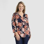 Jaclyn Smith Women's Plus Slinky Knit Top - Floral at Kmart.com