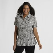 Jaclyn Smith Women's Plus Pleated Blouse - Floral Print at Kmart.com