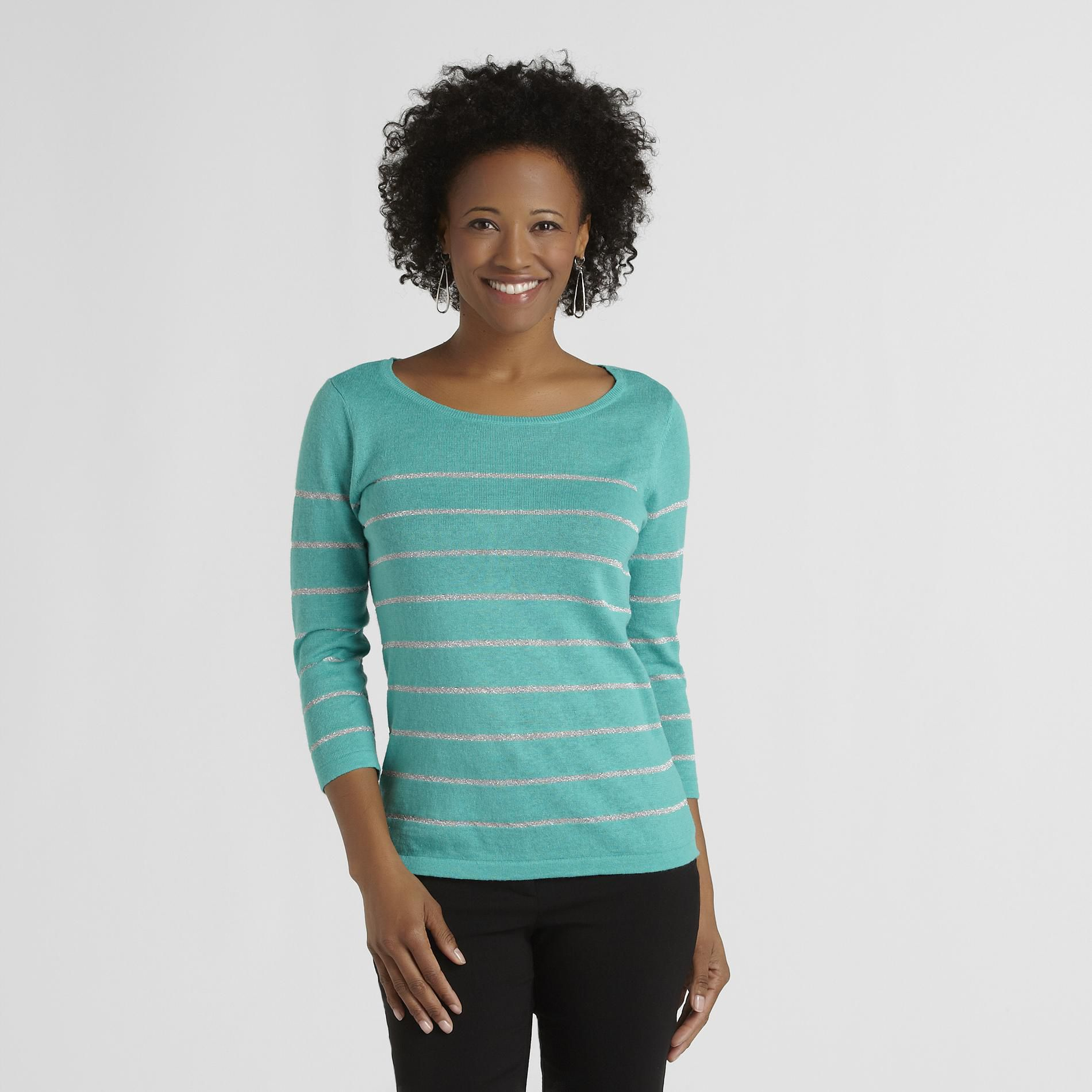 Jaclyn Smith Women's Sweater - Metallic Stripe at Kmart.com