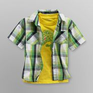 Toughskins Infant & Toddler Boy's Plaid Shirt & Graphic T-Shirt - Dinosaur at Sears.com