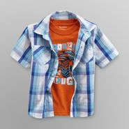 Toughskins Infant & Toddler Boy's Plaid Shirt & T-Shirt - Monster Truck at Sears.com