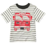 Carter's Toddler Boy's Short Sleeve Striped Fire Truck T-Shirt at Sears.com