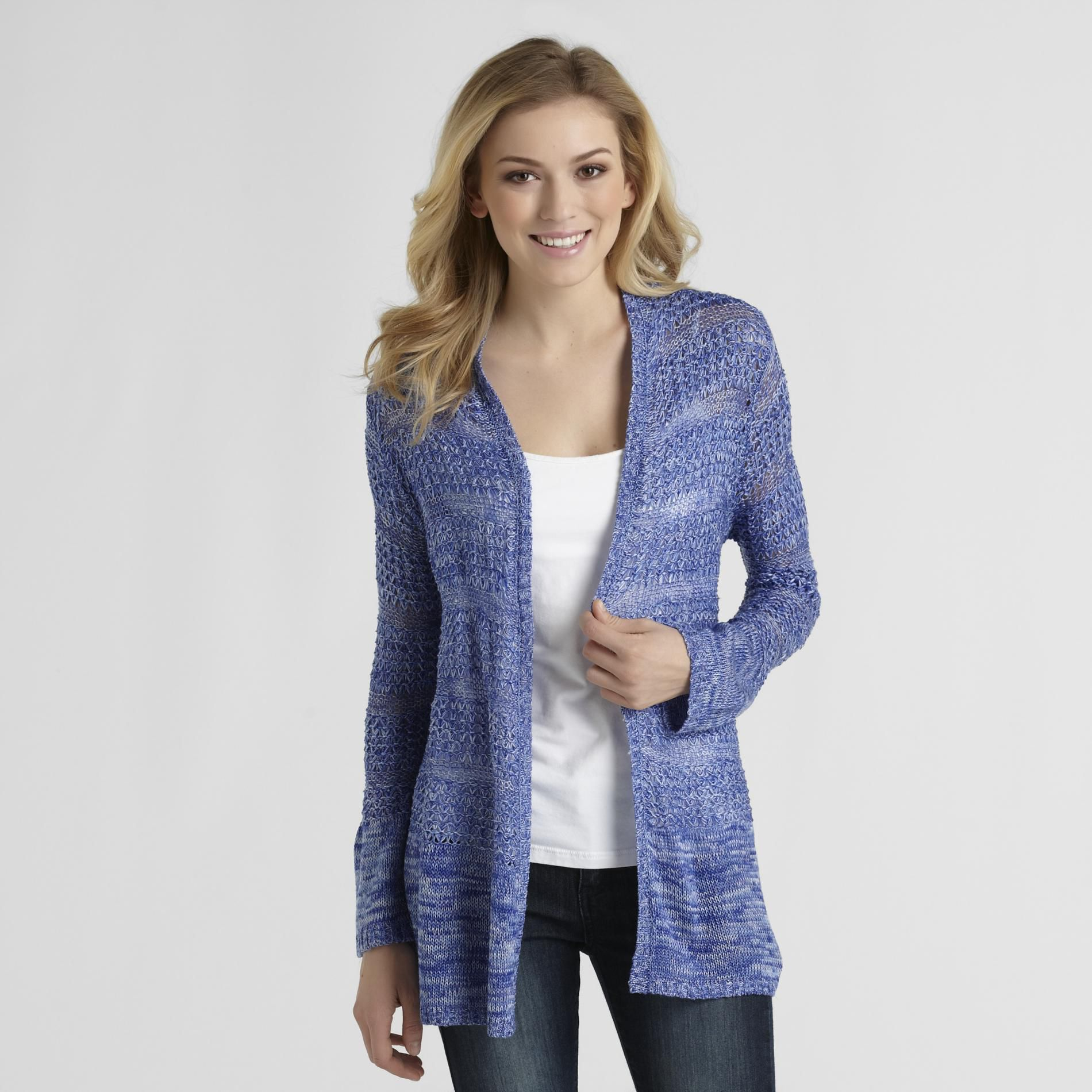 Basic Editions Women's Pointelle Cotton Cardigan at Kmart.com