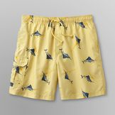Islander Men's Swim Shorts - Fish at mygofer.com