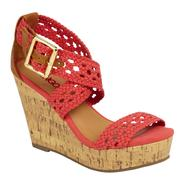 Bongo Women's Wedge Sandal Sunset - Coral at Sears.com