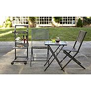Garden Oasis 4pc Folding Bar Cart Bistro Set at Sears.com
