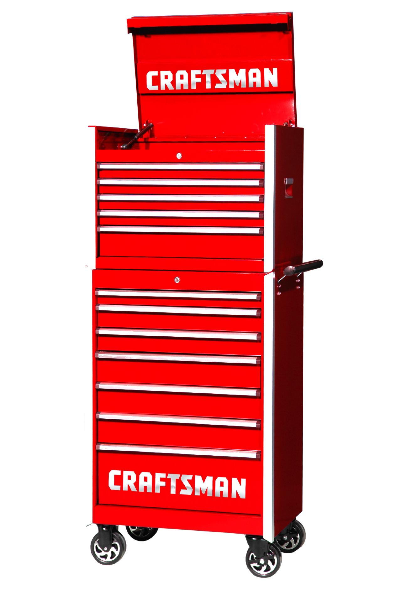 -Craftsman 27-Inch 12-Drawer Vintage Tool Storage Combo - Red