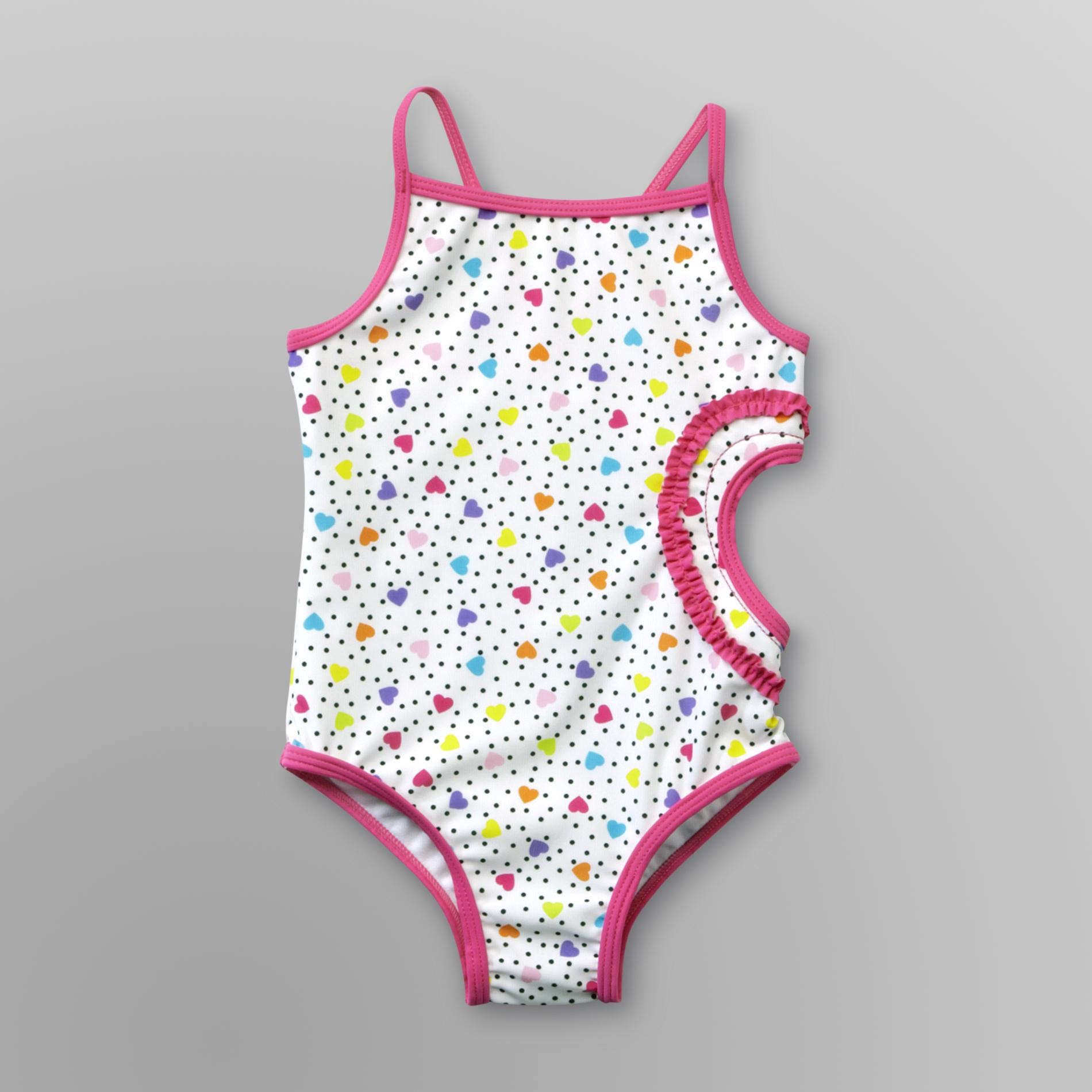 Infant & Toddler Girl's One-Piece Swimsuit - Hearts