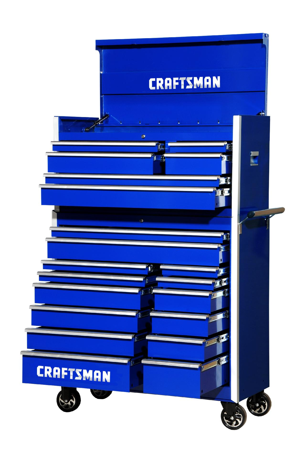 -Craftsman 42-Inch 20-Drawer Vintage Tool Storage Combo  Blue