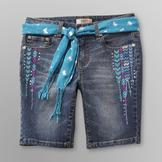 Route 66 Girl's Belted Bermuda Denim Shorts at mygofer.com