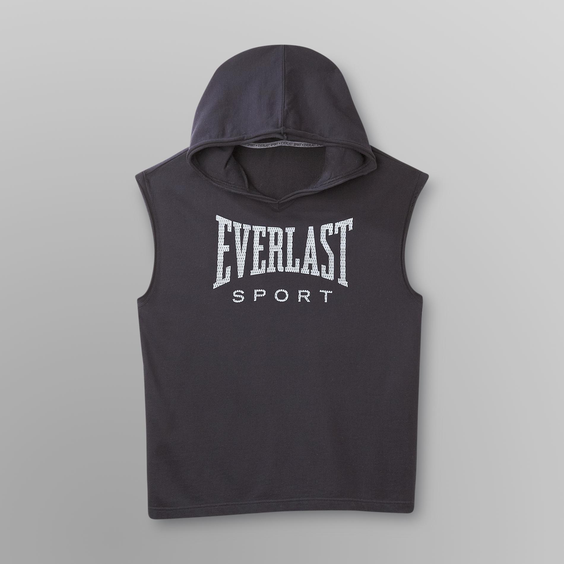 Everlast Sport Men's Sleeveless Hoodie Sweatshirt - Logo