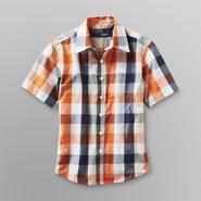 Basic Editions Boy's Button Front Shirt - Plaid at Kmart.com