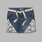 Route 66 Girl's Denim Skirt with Belt at mygofer.com