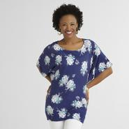 Jaclyn Smith Women's Jersey Knit Top - Floral Print at Kmart.com