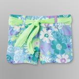 Basic Editions Girl's Shorts & Belt - Floral at mygofer.com